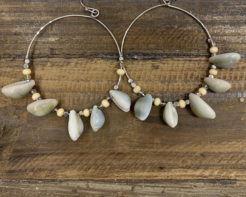 Shell Large Loop Earrings