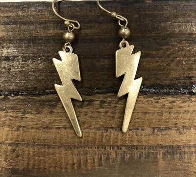 Small lightning earrings
