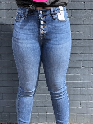 Judy Blue Button Fly Skinny