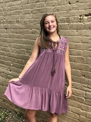 Embriodered Tank Dress