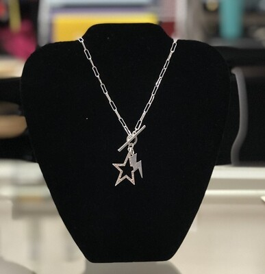 Chainlink Rhinstone Star Necklace