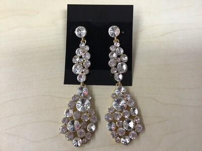 Cluster Gold Earrings