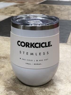 White Stemless 12oz Corkcicle
