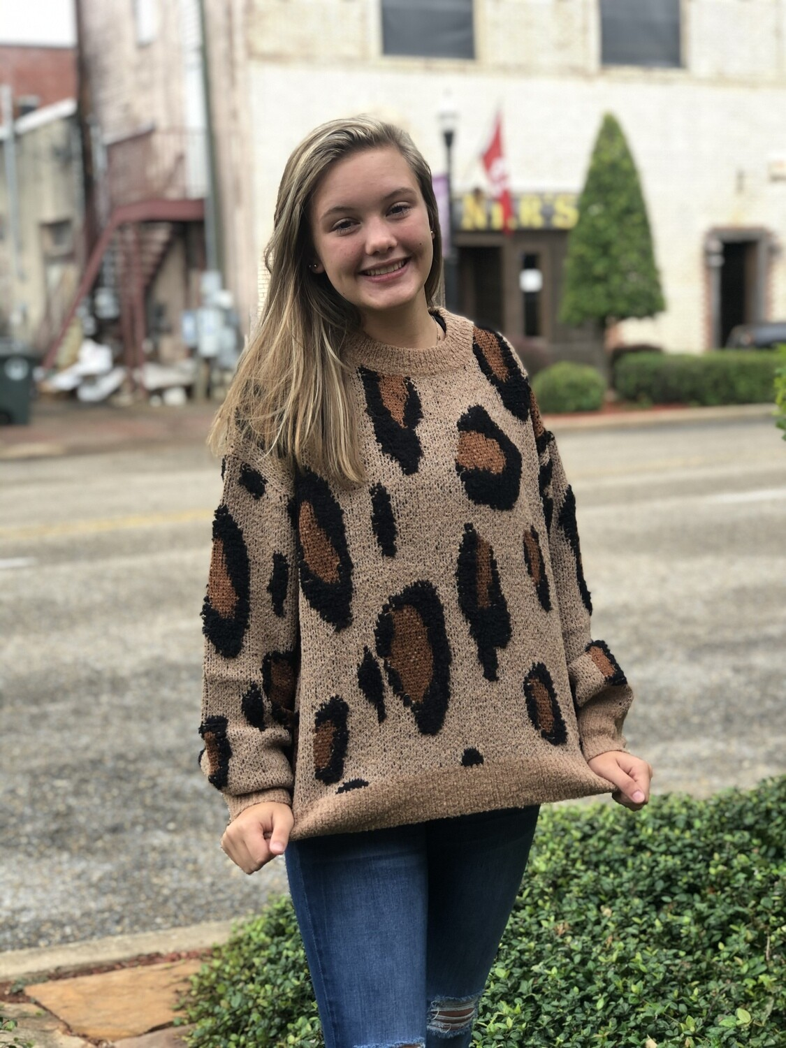 Cheetah Print Wool Sweater