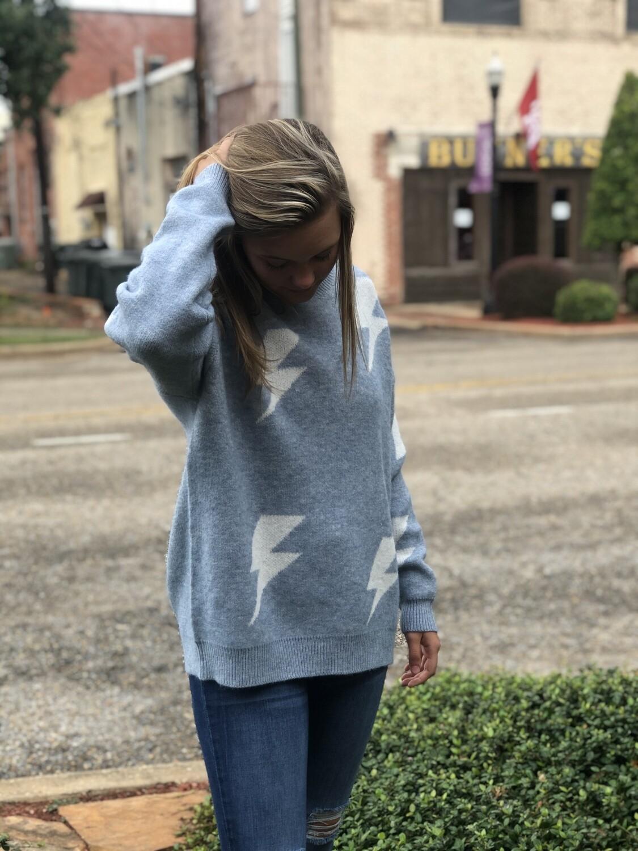Sky Blue Lightning Sweater