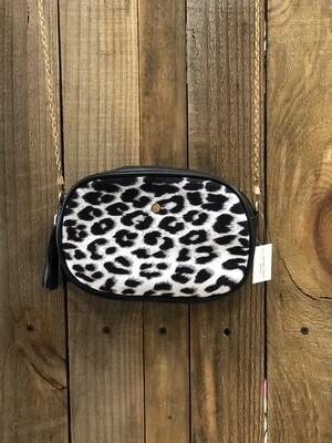 Purse Crossbody Animal Print W/Chain