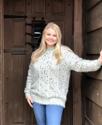 Sweater Mint Fuzzy ONE SIZE