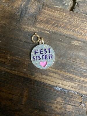 Charm Gold Glitter Best Sister