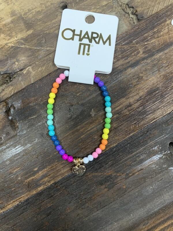 Charm Rainbow Stretch Bracelet