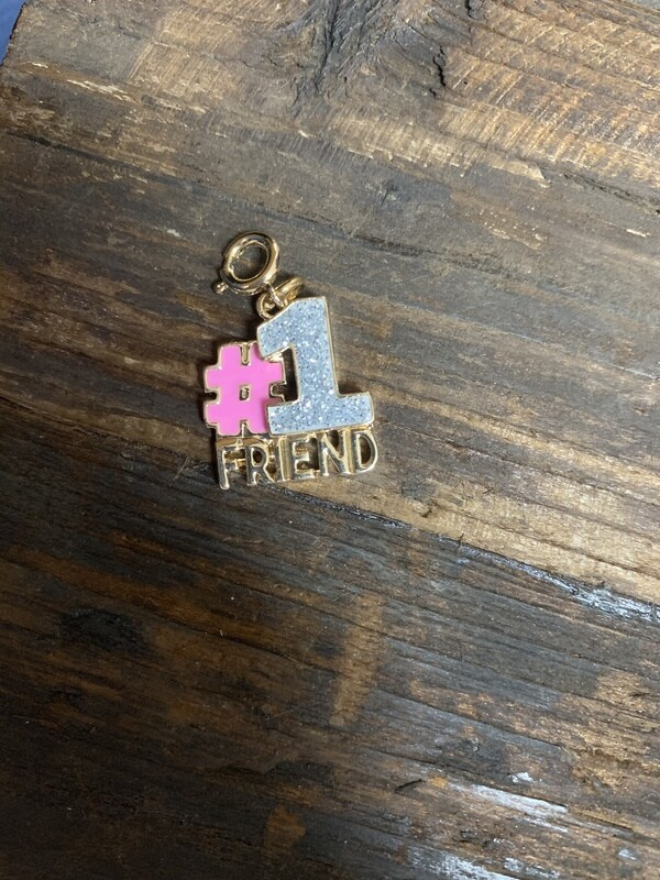 Charm Gold Glitter #1 Friend