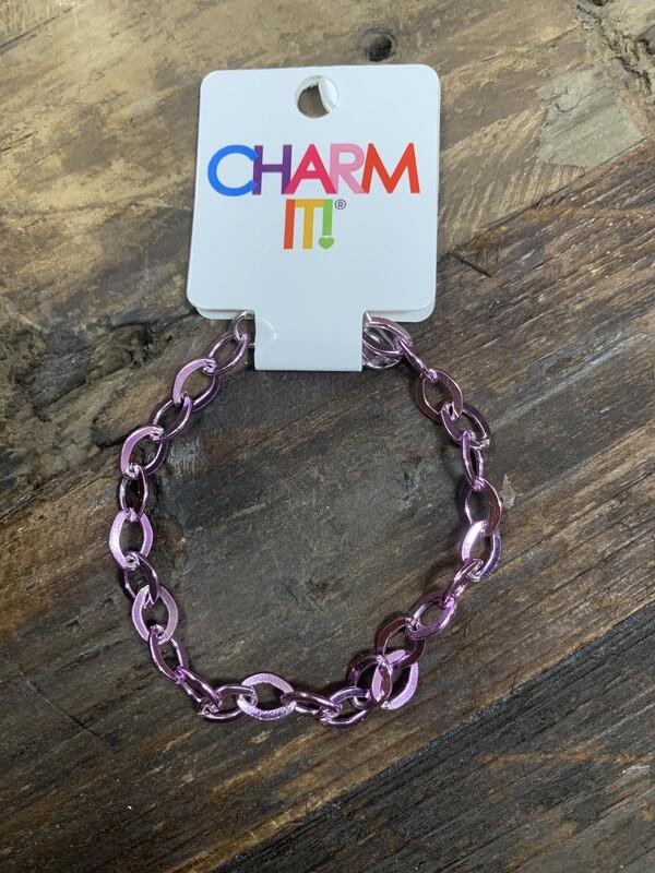 Charm Purple Chain Bracelet