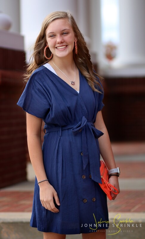 Dress Navy with Buttons