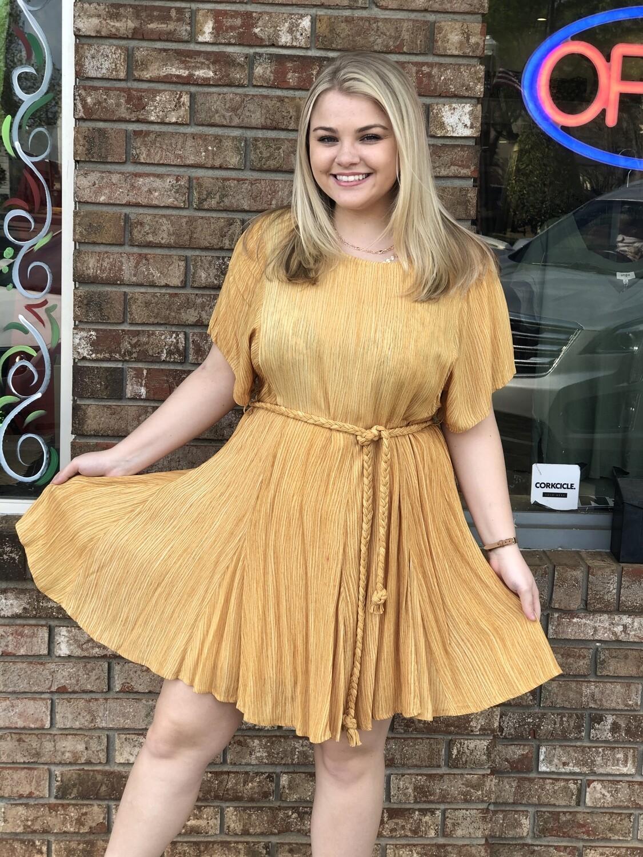 Bibi Mustard Dress