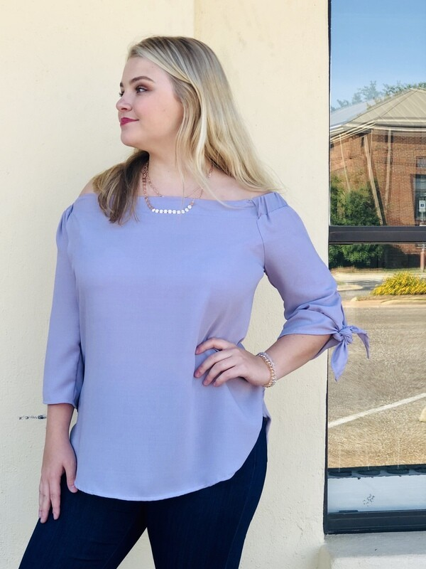 Off Shoulder Lavender Top
