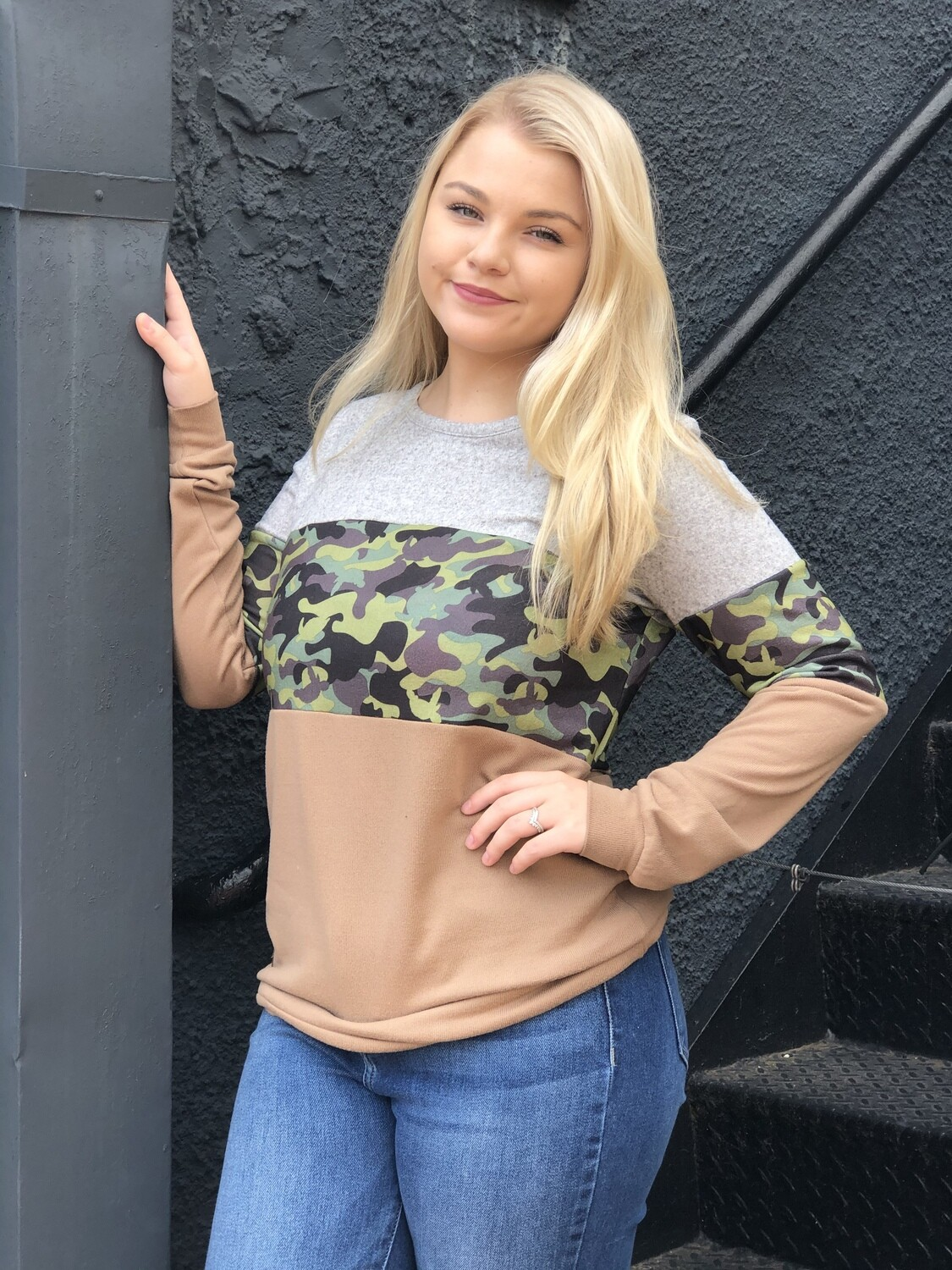 Camo Striped Simply Southern Top