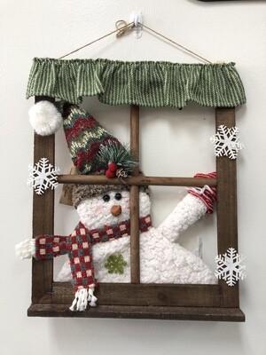 Christmas Window Snowman