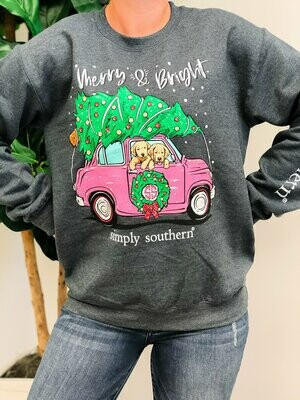 Simply Southern Crewneck Merry&Bright