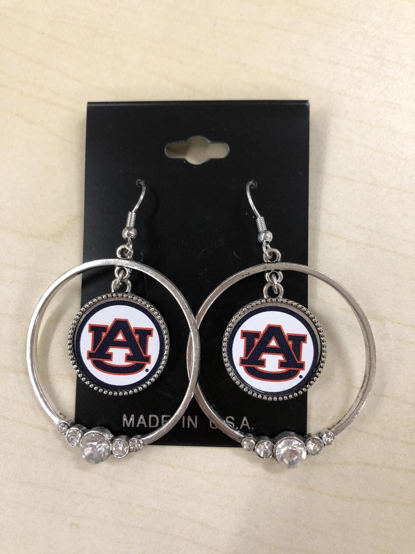 AU Circle Earrings