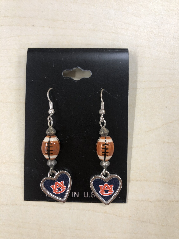 AU Football Earrings