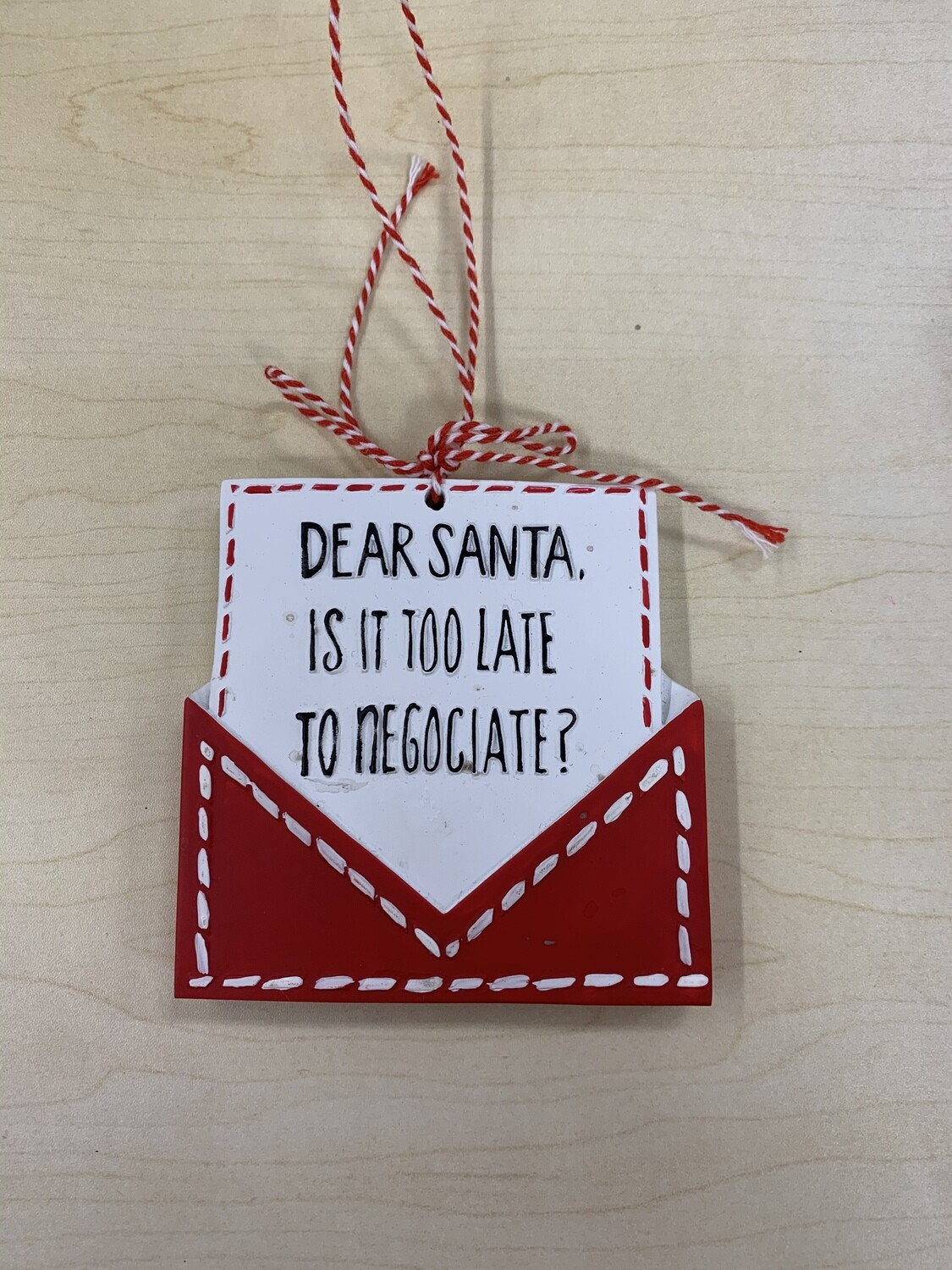 Dear Santa Ornament