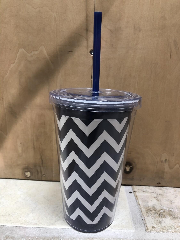 Navy Chevron Cup