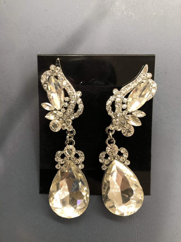 Clear Evening Earrings