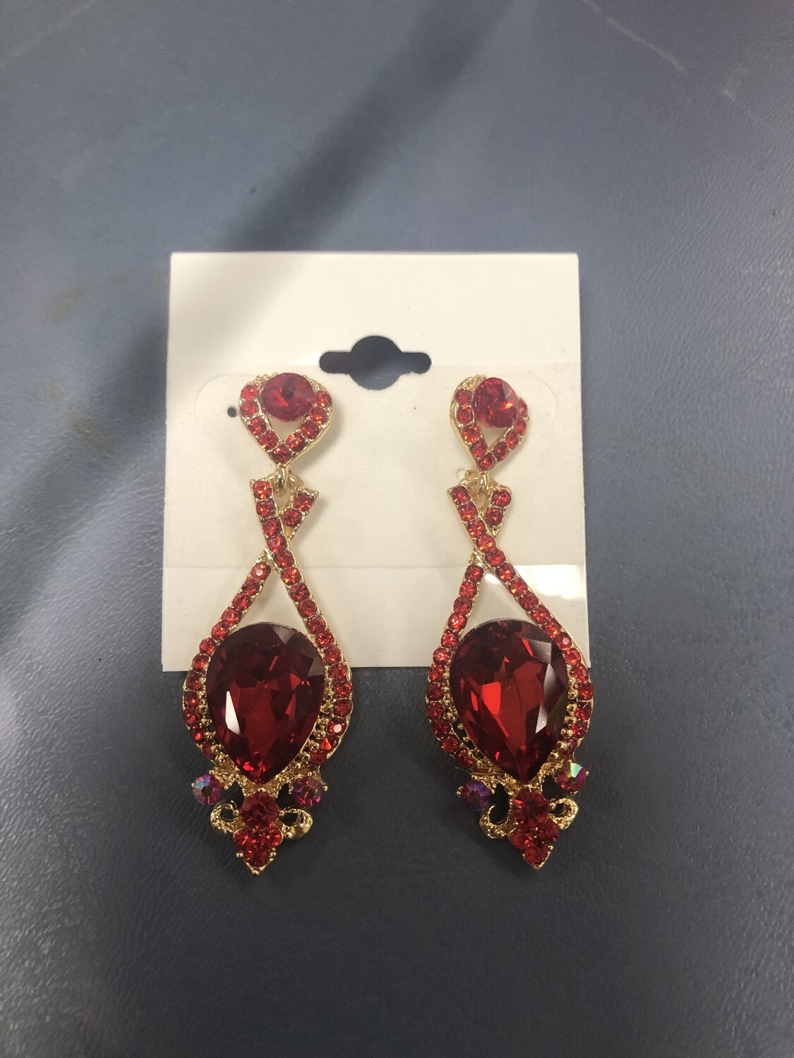 Small Red Formal Earrings