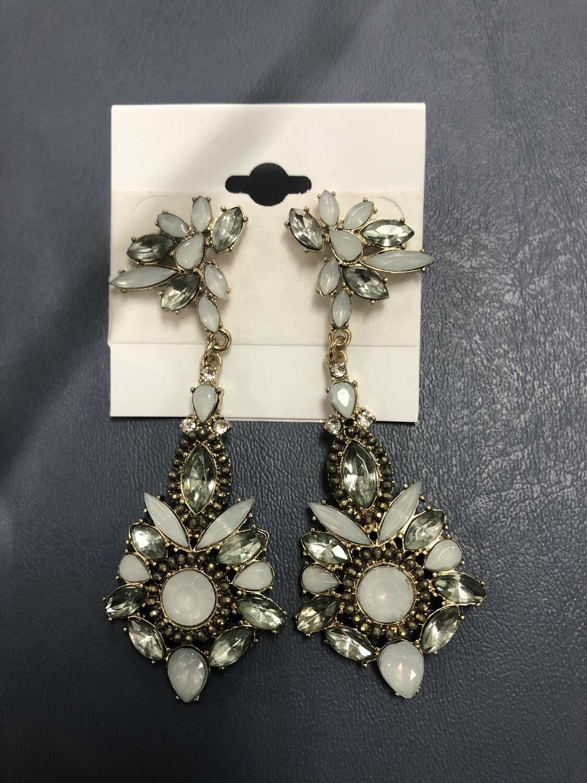 Minty Blue Formal Earrings
