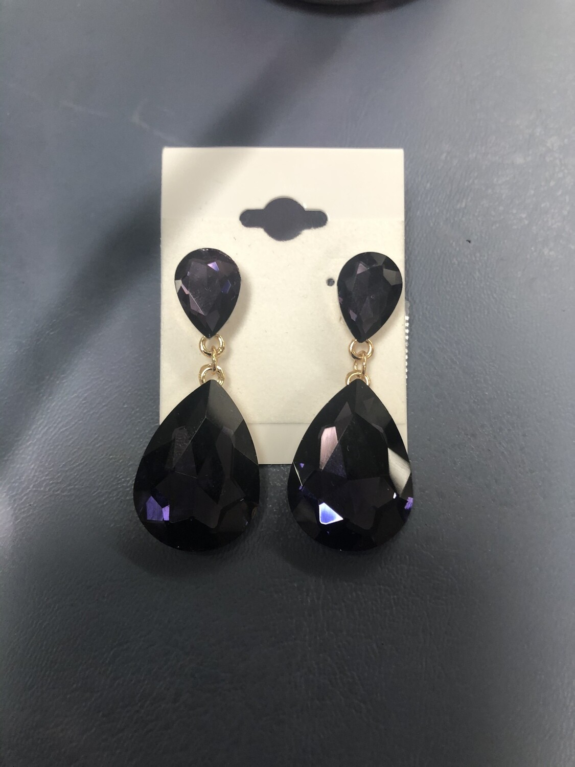 Small Purple Formal Earrings