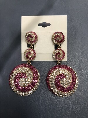 Fuchsia Circle Earrings