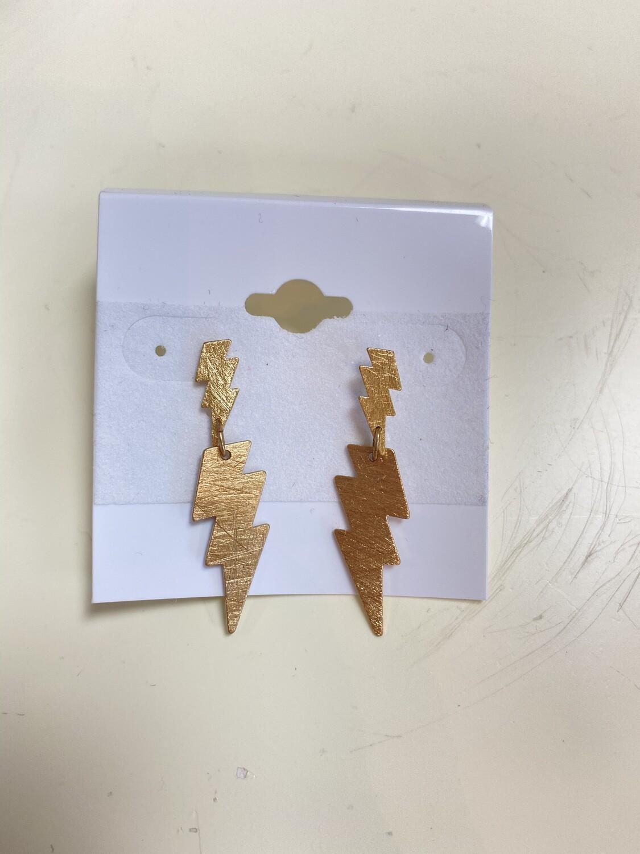 Two Layer 3Lightning Earring
