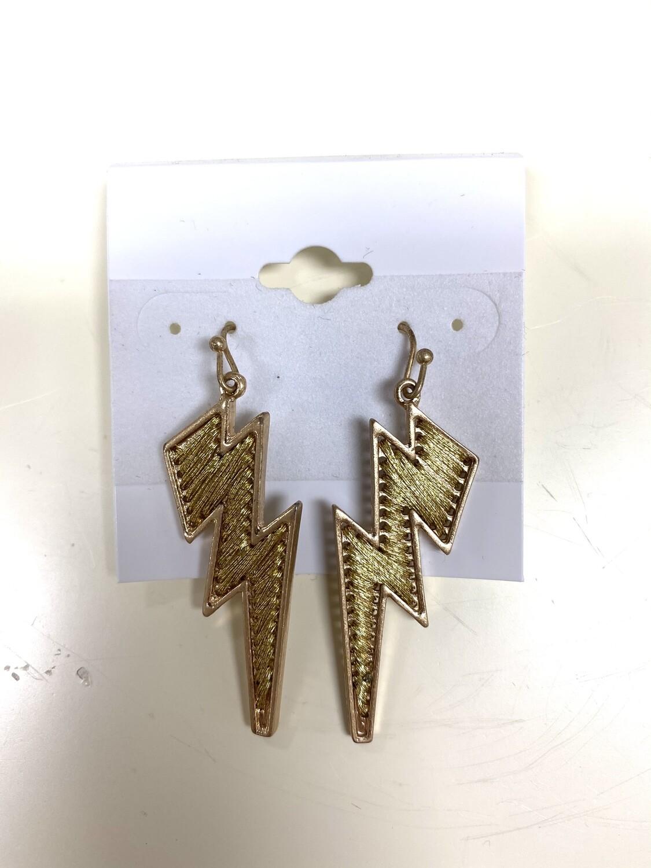 Threaded Lightning Earrings