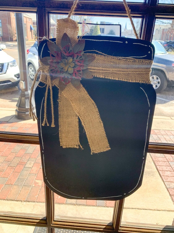 Mason Jar Chalk Board Door Hanger