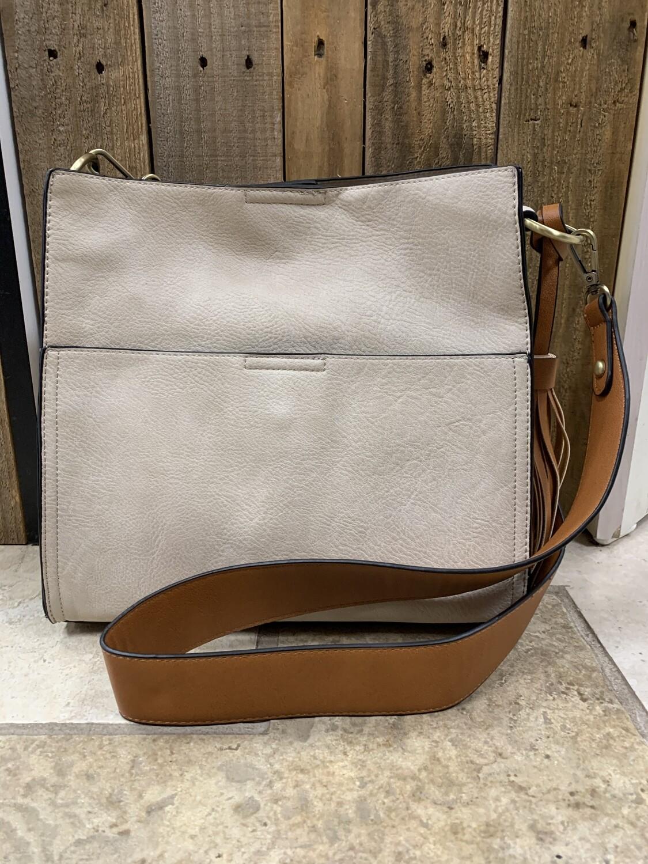 Bucket Bag 2in1 W/Guitar strap Lt Sand
