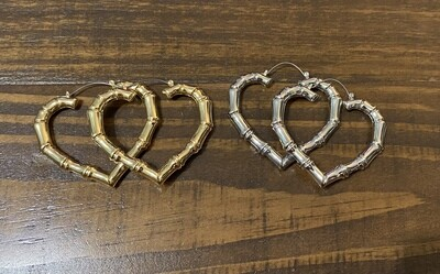 Lg Heart Earrings