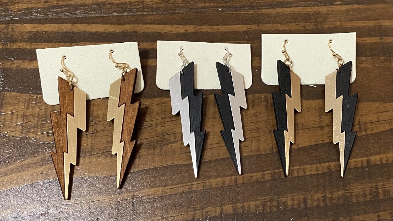 Lg Lightning Bolt Earrings