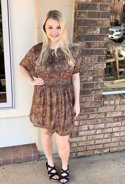 Smocked Cheetah Dress