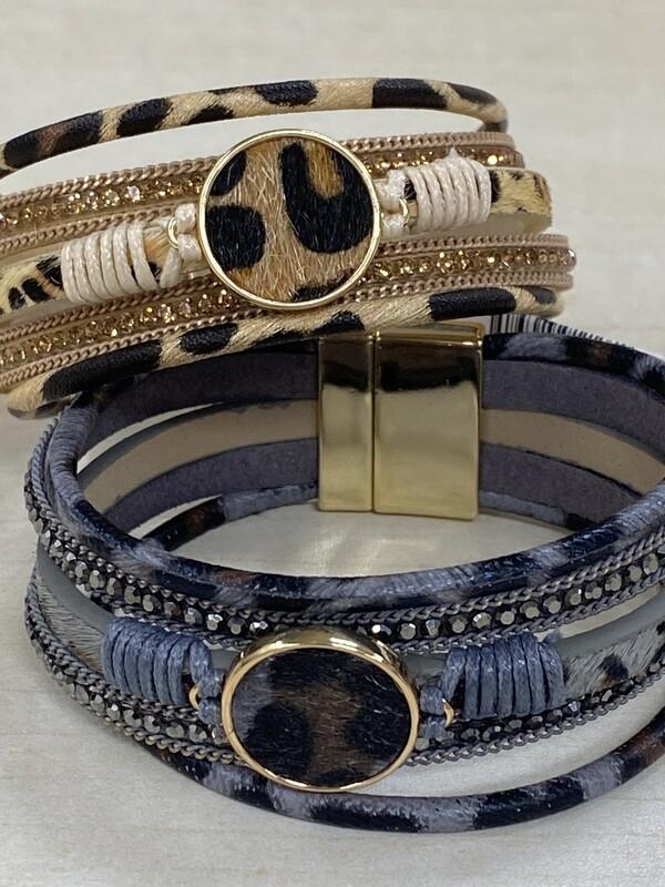 Magnetic Bracelet w/Cheetah