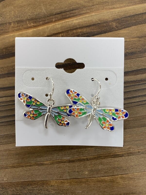 Dotted Dragonfly Earrings