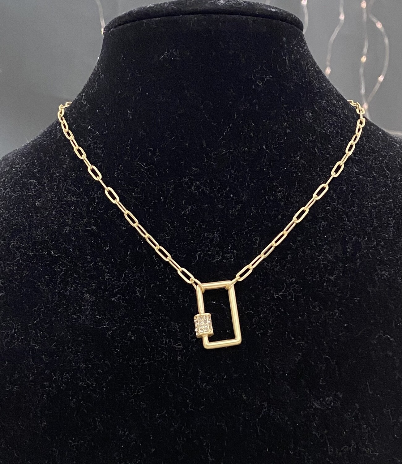"""Gold Rectangle 16"""" Necklace"""