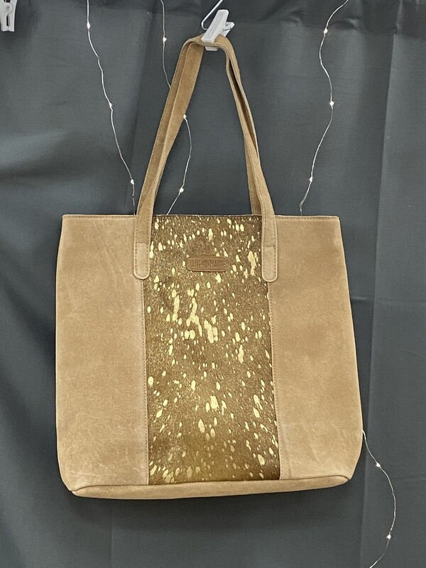 Jane Marie Gold Foil Tote
