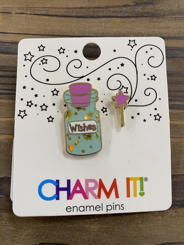 Wish Bottle Charm Pin