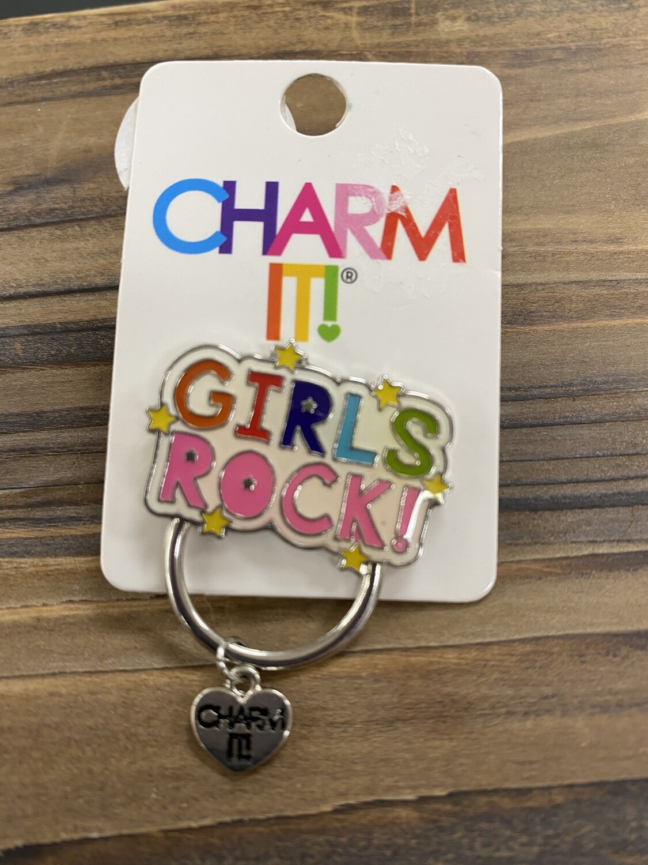 Girls Rock Charm Pin