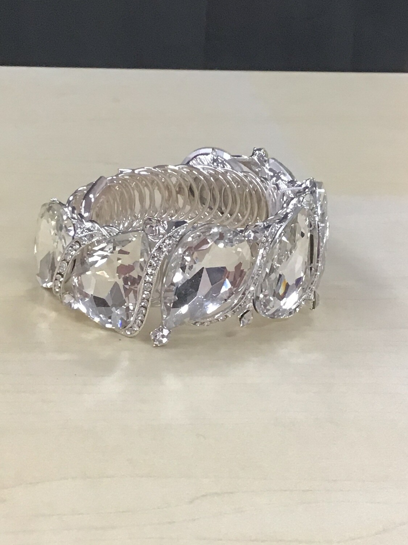 Evening Bracelet Clear Stone