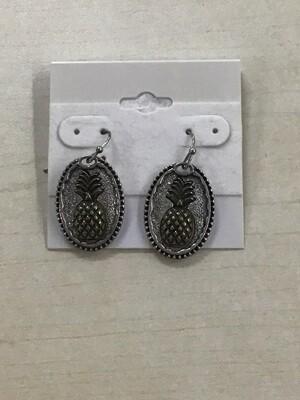 Rustic Pineapple Earrings
