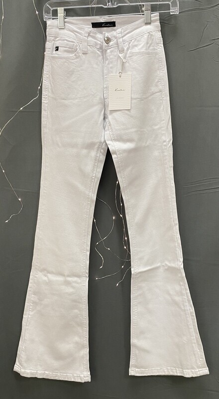 White Flare Stretch Jeans