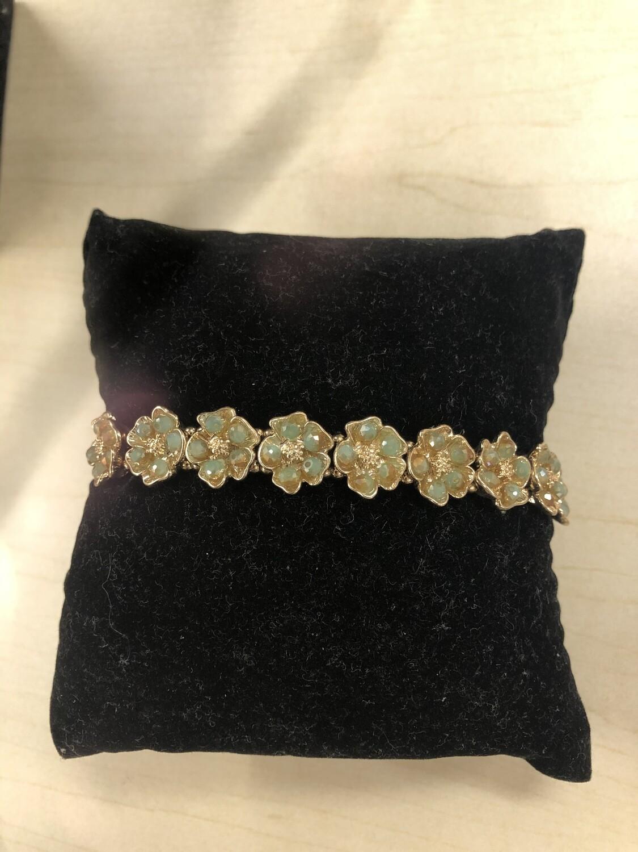 Mint Floral Bracelet