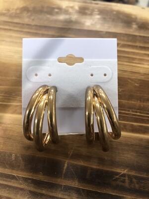 Earrings Gold Medium