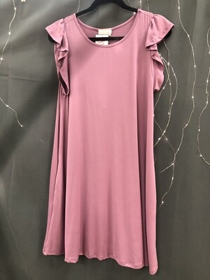 Ruffle Sleeve Tank Dress