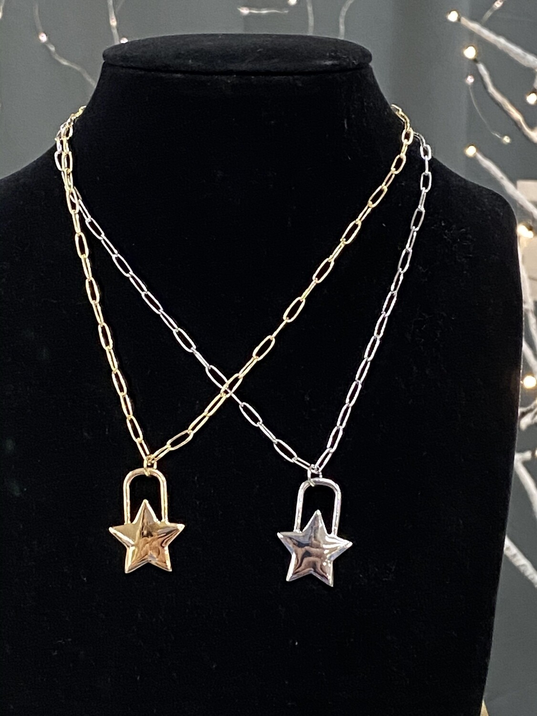 """Chain w/Star Charm 16"""" Necklace"""